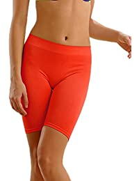 Clovia Women's Coral Orange Thigh Shaper