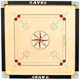 Avs Traders Full Size (Large) Gol Pocket Carrom Board With [ 2 Pc Multi Colour Strikers , 1 Pc Carrom Powder(20Gm) & 1 Set Wooden Carrom Coins( 20 Coins)].....(((((Free Of Cost)))))_81.28Cm