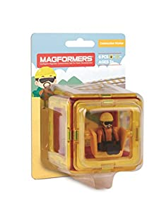 Unbekannt magformers 278 - 14 - Figure Plus Construction Worker Juego 6