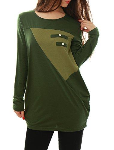 allegra-k-ladies-contrast-color-loose-tunic-green-s