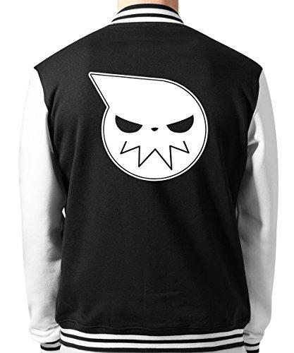 -- Soul E. Skull -- Unisex College Jacke Schwarz/Weiss