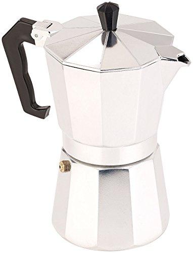 Cucina di Modena Kaffee-Kocher: Espressokocher für 6 Tassen, für Induktions-Herde geeignet, 300 ml (Espressokocher induktionsgeeignet)
