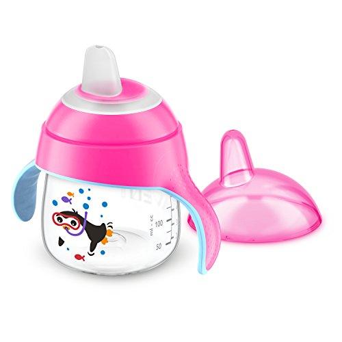 Philips, Tazza antigoccia con manici e beccuccio AVENT SCF751/05, 6+ mesi, 200 ml, Rosa (pink)