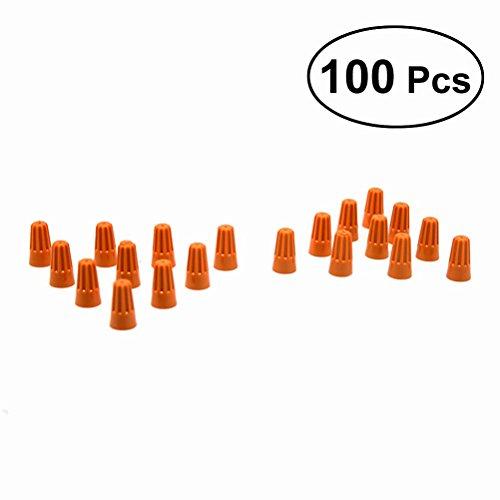 WINOMO connecteurs pour câbles électriques de 100 pc terminaux à vis Bouchons pour lignes de pression Outils pour la maison et le travail (Orange)