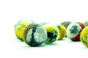 5 Stück. Katzenspielzeug. Schafwolle Ball. Handmade. Gefilzt. Natürliche und ökologische Wolle. Hergestellt von kivikis. Gratisversand.