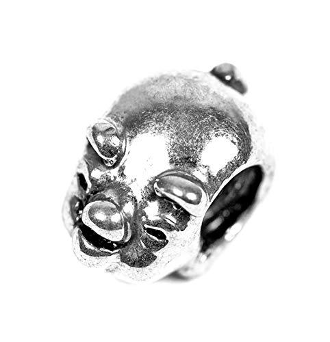 Beads Charms Schmuck Glasperlen Anhänger Unisex Zwischen-Element Herz Schloss Motiv