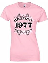 T-Shirt Femme Anniversaire 40 Ans Millésime 1977