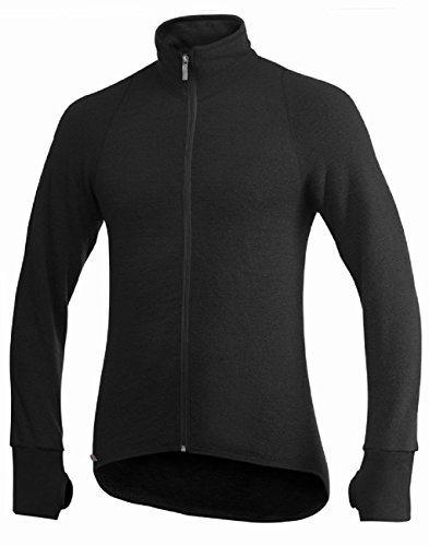 Woolpower 600 Jacket Men - Midlayer Merino Fleecejacke black