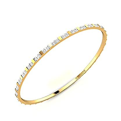 Candere By Kalyan Jewellers Contemporary Collection 22k Yellow Gold Snehanjali Bangle