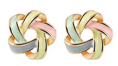 SaySure- Flower Cross Stud Earrings Delicate Elegant Charm