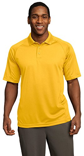 Sport-Tek Mens Dri-Mesh Pro Polo, Medium, Gold