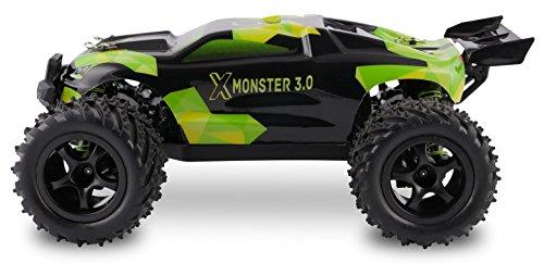 RC Auto kaufen Truggy Bild 4: Overmax X-Monster 3.0 Monster Truck ferngesteuertes RC Auto - unglaubliche 45 km/h schnell - 1:18 Maßstab - 2 Akkus - Allrad - 100m Reichweite- Buggy*