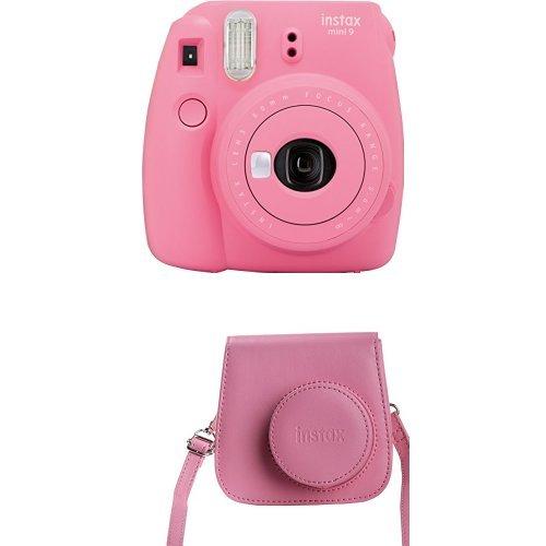 Fujifilm - Instax Mini 9 - rose - appareil seul mit Tasche