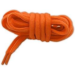 Cordones deportivos de alta calidad 125 cm naranja fluorescente