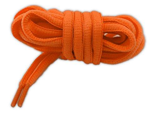 NEON Lacci per calzature sportive, ovali, elevata qualità, 125 cm (arancione fluorescente)