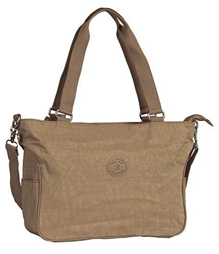 Big Handbag Shop , Damen Henkeltasche Design 1 - Pale Pink