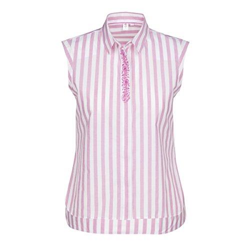 SEIDENSTICKER Damen Bluse Schwarze Rose Bügelleicht Streifen Fashion-Bluse cyclam-weiß Strf. (0083)