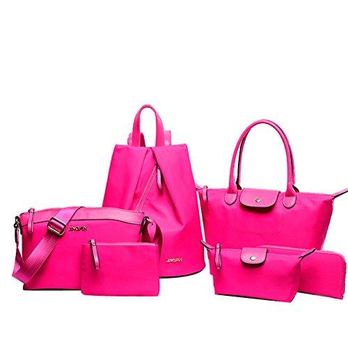 Schulter Bag Geldbeuteltote Mode Schultaschen Handtasche Messenger Set Beuteltote pink Handtaschen Frauen fanhappygo Leder xz4qHxIv