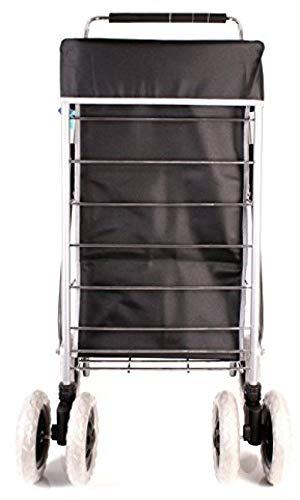 Preisvergleich Produktbild Generic Einkaufstrolley mit Griff,  groß,  verstellbar,  mit Rädern,  Schwarz