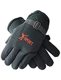 Tex Homz Winter Gloves for Men and Boys Motorcycle Riding Hand Gloves Colour - Black