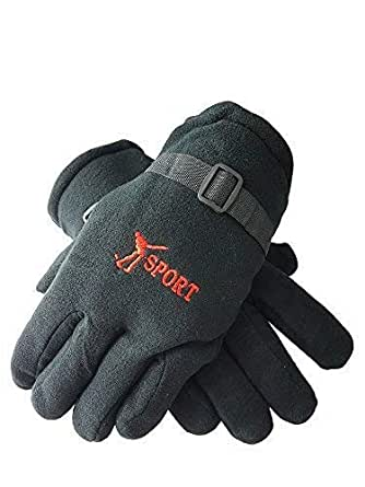 Tex Homz Unisex Winter Gloves for Men and Boys Motorcycle Riding Hand Gloves, Free size Color - Black