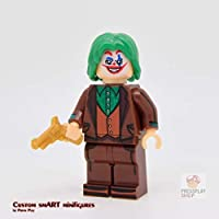 Custom Minifigure - based on the character The Joker (Joaquin Phoenix) by Pressplayshop