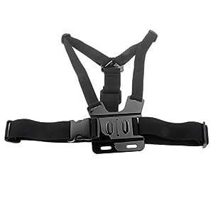 Support adaptateur réglable pour appareil photo Trépied Sangle ventrale élastique Ceinture d'épaule pour caméra GoPro HD Hero 2/3/ST - 27 Noir