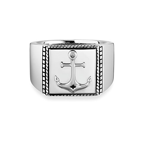 caï men Herren-Ring Anker 925 Silber rhodiniert schwarz lackiert 62 (19.7) C4236R/90/00/62