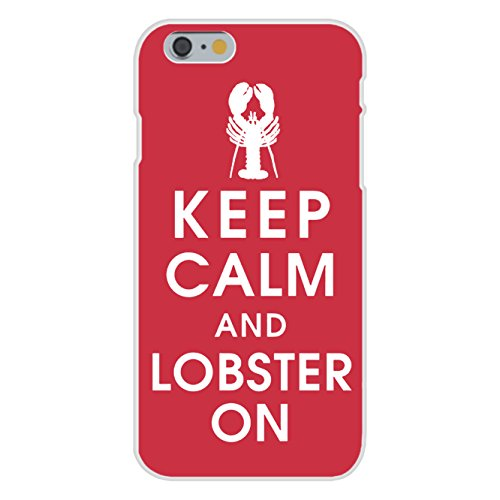 apple-iphone-6-plus-custom-case-white-plastic-snap-on-keep-calm-and-lobster-on-seafood-on-red