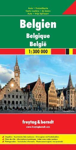 Freytag Berndt Autokarten, Belgien - Maßstab 1:300 000 (freytag & berndt Auto + Freizeitkarten)