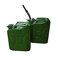 XtremeAuto® 2 x 20 Litre Green Metal Jerry Can With 1 x Spout (UN Approved, GS/TUV Certification) Includes XtremeAuto Sticker