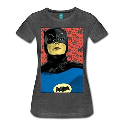 Spreadshirt DC Comics Batman Vintage Kostüm Porträt Frauen Premium T-Shirt, L, Anthrazit