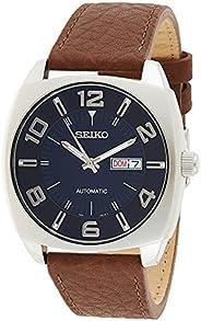 Seiko Men's Blue Dial Brown Leather Strap Automatic W