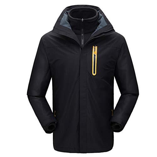 Jacquard Knit Shell (Timogee Radsport-Jacken für Herren Radsport Jacken Winter Kapuzen Regenjacke Softshell Jacke Übergangsjacke Winddicht Wasserdicht Soft Coat Shell)