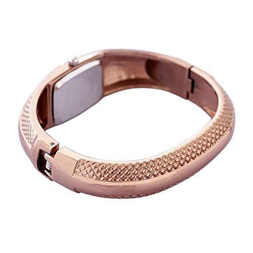 Internet Mode Goldene Oval Quarz Uhr Dame Stulpe Armband Armband Armbanduhr -