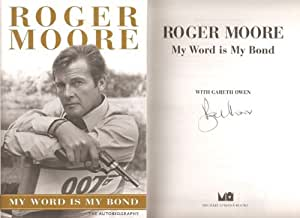 Roger Moore Genuine Hand Signed Autograph Autobiography