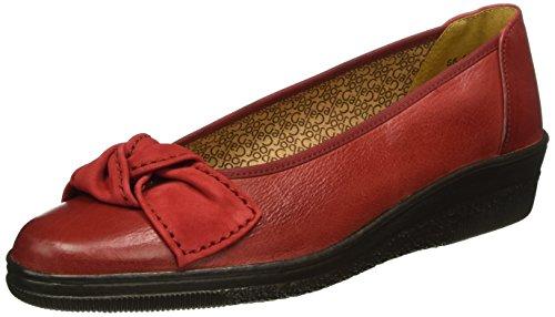 Gabor Shoes Comfort Basic, Mocassini Donna, Rosso (Rubin/Rot 39), EU