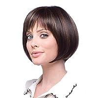 WWWANG Wig Europe And The United States Trendy Ladies Wig Short Hair Rose Net Wig Hood (Size : MADGQCU)