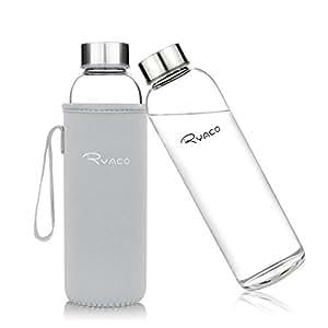 ryaco glasflasche trinkflasche classic 550ml bpa frei glasflasche f r unterwegs sport flasche. Black Bedroom Furniture Sets. Home Design Ideas