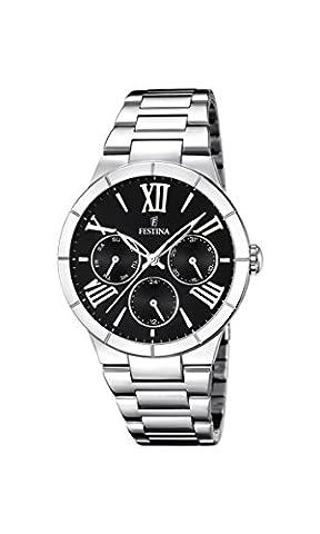 Festina Damen-Armbanduhr Analog Quarz Edelstahl F16716/2