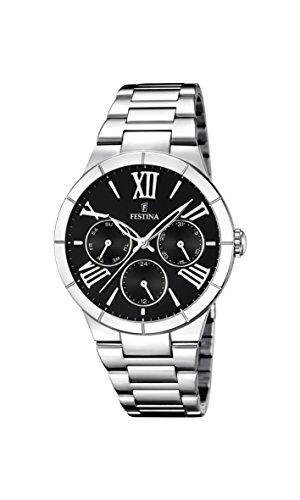 University Sports Press F16716/2 - Reloj de cuarzo para mujer, con correa de acero inoxidable, color plateado