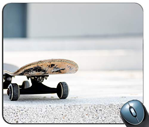 Skateboard-Räder-Muster-Mausunterlage, Gedruckter Rutschfester Gummi-Bequeme kundengebundene Computer-Mausunterlage