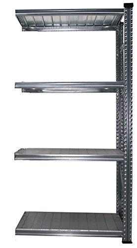 Steckregal Super1 Anbauregal S1 1972x1085x600 mm 4 Böden Traglast 180 kg pro Boden Fachbodenregal Metallregal Regal Lagerregal Schwerlastregal
