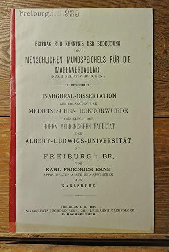 Beitrag zur Kenntnis der Bedeutung des menschlichen Mundspeichels für die Magenverdauung (nach Selbstversuchen).