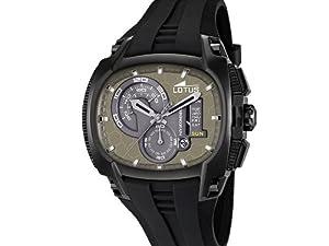 Reloj analógico Lotus 15755/1 de cuarzo para hombre con correa de plástico, color negro