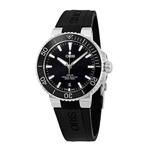 Oris Aquis Black Dial Automatic Men's Rubber Watch 01 733 7732 4134-07 4 21 64FC