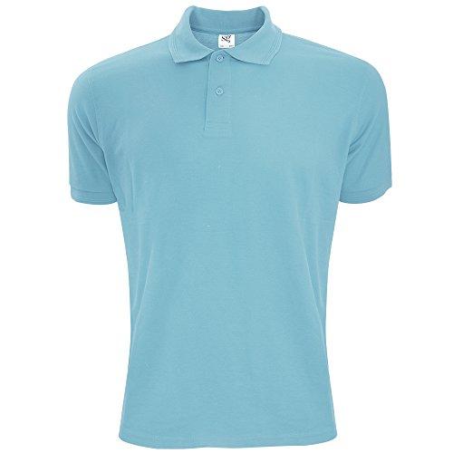 SG Polycotton Herren Polo-Shirt, Kurzarm Himmelblau