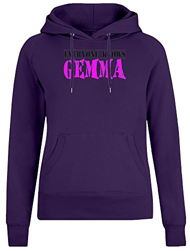 ee829aa5953 Everyone Knows Gemma Jacket with Hoodie For Women - 100% Soft Cotton - High  Quality DTG Printing - Custom Printed Womens Clothing X-Large
