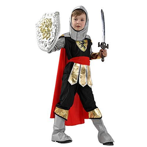 LOLANTA 5 stücke Jungen Edle Ritter Outfits Mittelalterlichen Prinz Kostüm Halloween Party Rollenspiel