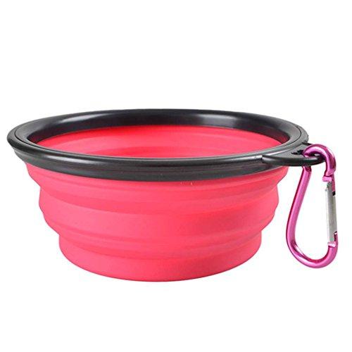 NAYUKY TPE zusammenklappbare Hundenäpfe BPA frei Faltbare Reisenapf Hund Katze Schalen Feeder Mini Lebensmittelhalter -